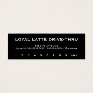 Loyalty Latte Drive-Thru Copperplate Mini Business Card