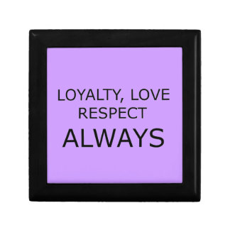 LOYALTY LOVE RESPECT CHARACTER ATTITUDE FOUNDATION KEEPSAKE BOXES