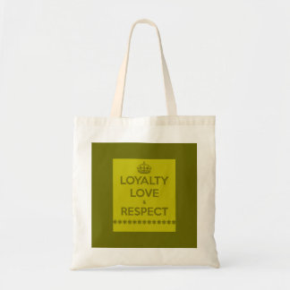 loyalty-love-respect LIFE MOTTO LOYALTY LOVE RESPE Canvas Bags