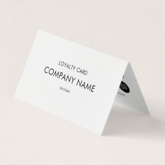 Loyalty Modern Minimalist Black and White Business Card