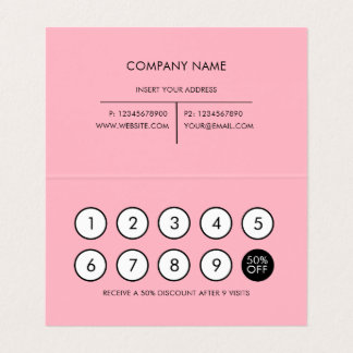 Loyalty Modern Minimalist Cherry Blossom Business Card