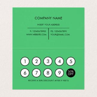 Loyalty Modern Minimalist Emerald Business Card