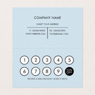 Loyalty Modern Minimalist Light Grey Business Card