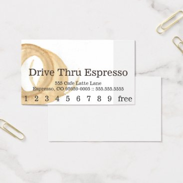 coffeepunch Loyalty News Font Coffee Stain Punchcard Business Card