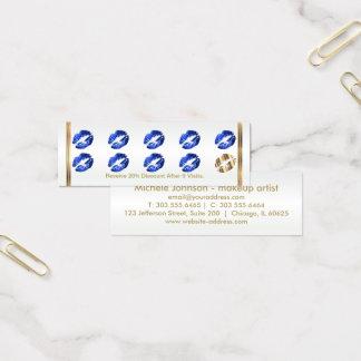 Loyalty Punch Card - Blue Glitter