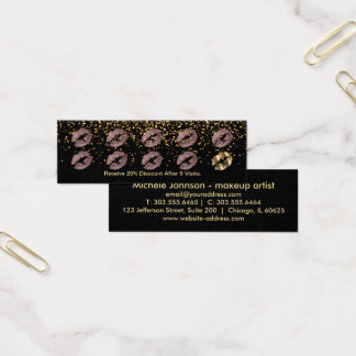Loyalty Punch Card - Dusty Rose Glitter and Gold 3