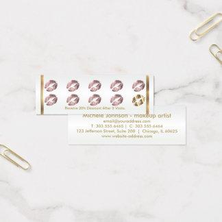 Loyalty Punch Card - Dusty Rose Glitter Lips