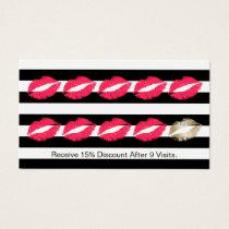 Loyalty Punch Card | Modern Makeup Artist Red Lips