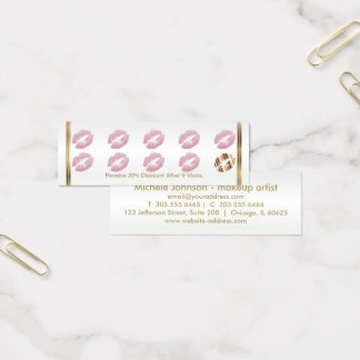 Loyalty Punch Card - Pink Glitter