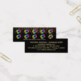 Loyalty Punch Card - Rainbow Lips and Gold 3