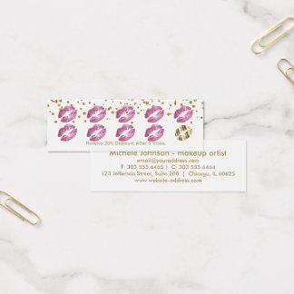 Loyalty Punch Card - So Pink Glitter and White 3