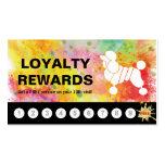 Loyalty Rewards Card Colorful Poodle Grooming
