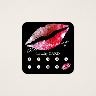 Loyalty square card makeup artist