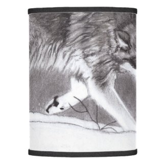 Loyalty - Wolves in snow lampshade