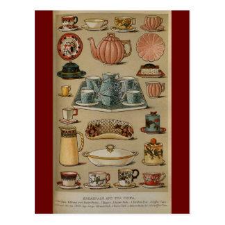 Loza de señora Beeton Breakfast Tea China Postales