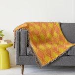 Lozenge orange diagram cover throw blanket