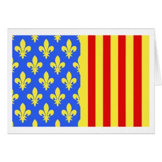 Lozère flag greeting card