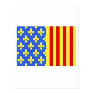 Lozère flag postcard