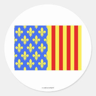 Lozère flag round sticker