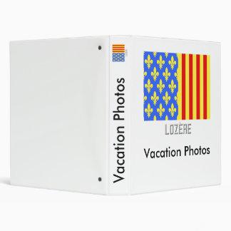 Lozère flag with name vinyl binders