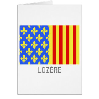 Lozère flag with name greeting cards