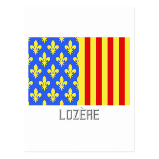 Lozère flag with name post card