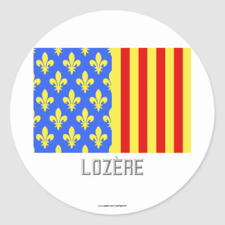 Lozère flag with name sticker