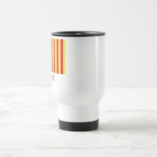 Lozère flag with name travel mug