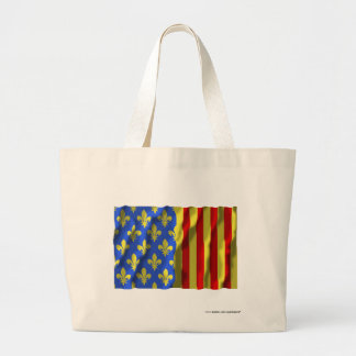 Lozère waving flag tote bags