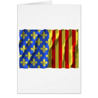 Lozère waving flag cards