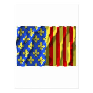 Lozère waving flag post cards