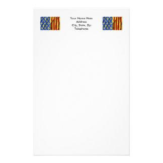 Lozère waving flag stationery paper