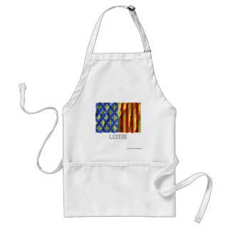 Lozère waving flag with name apron