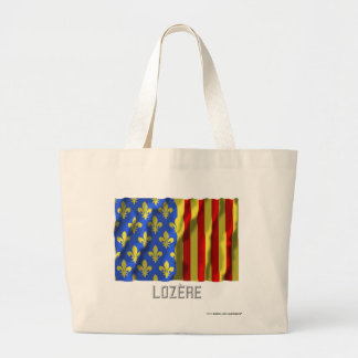 Lozère waving flag with name canvas bags
