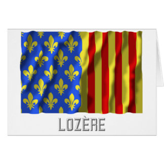 Lozère waving flag with name cards