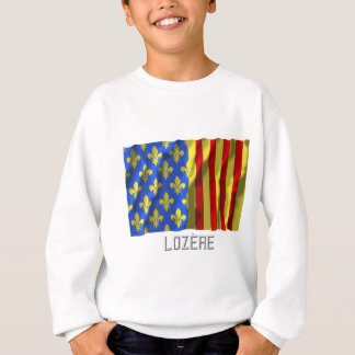Lozère waving flag with name sweatshirt
