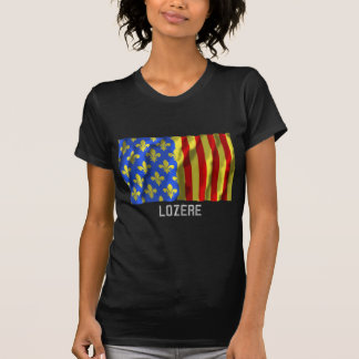 Lozère waving flag with name tees