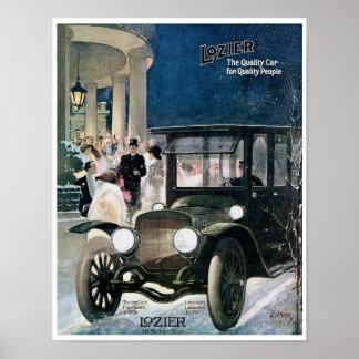 Lozier Automobile Vintage Ad Art Posters