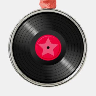 LP Record Metal Ornament
