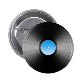 LP Record Pinback Button
