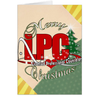 LPC CHRISTMAS  Licensed Professional Counselor Card