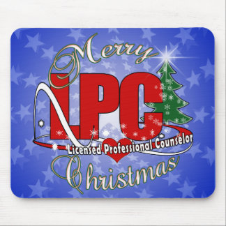 LPC CHRISTMAS  Licensed Professional Counselor Mouse Pad