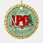 LPC CHRISTMAS  Licensed Professional Counselor Double-Sided Ceramic Round Christmas Ornament