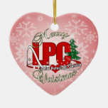 LPC CHRISTMAS  Licensed Professional Counselor Double-Sided Heart Ceramic Christmas Ornament