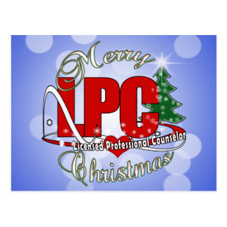 LPC CHRISTMAS  Licensed Professional Counselor Postcard