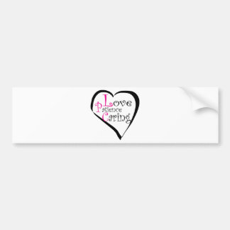 LPC Love Patience Caring Gifts Bumper Sticker
