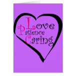 LPC Love Patience Caring Gifts Greeting Card