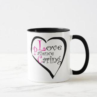 LPC Love Patience Caring Mug