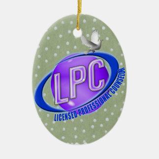 LPC SWOOSH LOGO LICENSED PROFESSIONAL COUNSELOR CERAMIC ORNAMENT