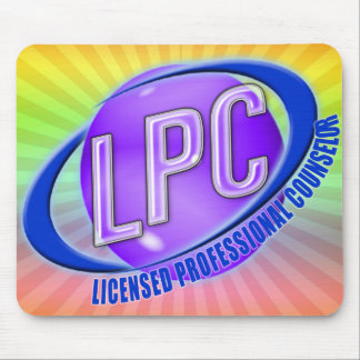 LPC SWOOSH LOGO LICENSED PROFESSIONAL COUNSELOR MOUSE PAD
